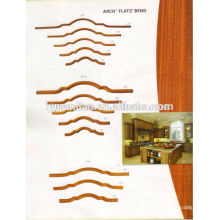 cambered shape wood decorative ceiling/crown moulding for interior decorative