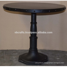Industrial Riveted Top Cast Iron Base Table