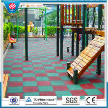 Recycle Kindergarten Rubber Mat Wearing-Resistant Rubber  Tile Colorful Rubber Paver