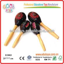 Высокое качество ручной работы Big Maraca Деревянные музыкальные игрушки