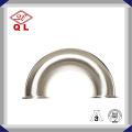 45 grados de curvatura sanitaria de acero inoxidable de tubería de ajuste codo con abrazadera