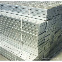 Panneau d'échafaudage en aluminium pour la construction de bâtiments