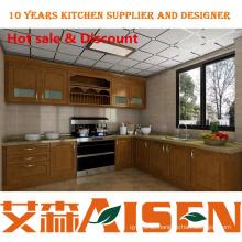 L Form maßgeschneiderte moderne Küchenschränke Design