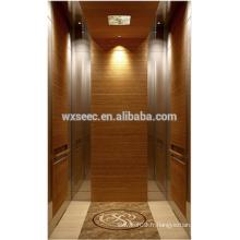 Miroir et cheveux en acier inoxydable Conçu passager en bois Ascenseur