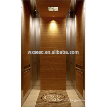 Espelho e linha fina aço inoxidável projetado madeira Passanger elevador
