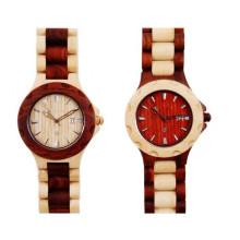 Hlw042 OEM Männer und Frauen aus Holz Uhr Bambus Uhr hohe Qualität Armbanduhr