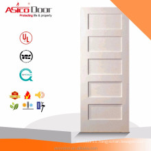 ASICO Cheap 5 Panel Shaker Interior Wood Wooden MDF Door