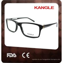 2017 fashional diseño hecho a mano hombres acetato gafas ópticas y anteojos eyewear