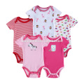 Low price new born baby clothing infant bodysuit cotton short sleeve knitted wholesale kids romper