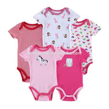 Niedriger Preis Neugeborenes Baby Kleidung Kleinkind Body Baumwolle Kurzarm gestrickte Großhandel Kinder Strampler