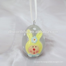 2016 new product handpainting bunny easter hanging decoration,easter hanging crafts