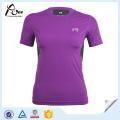 Roxo camiseta Compression Vestuário Compression Wear