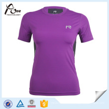Roxo camiseta Compression Vestuário Compression Wear
