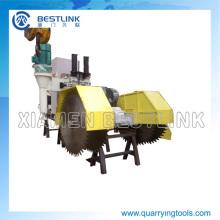 Bloque de cantera piedra arenisca de la máquina de corte que hace la máquina
