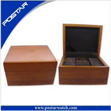 Caja de regalo de madera de calidad superior del reloj del color natural
