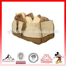 High Quality Tote Wood Caddy Carrier Portable Canvas Heavy Duty Log Bag