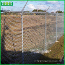 Welded Wire airport Fence with Concertina Razor Barbed Wire for sale