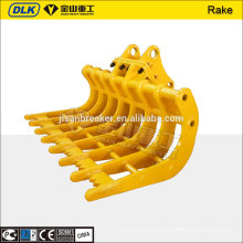 Wear Resistant hydraulic excavator root rake for R225 excavator
