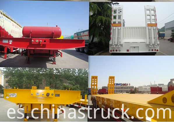 Kinds of low loader semi-trailer show