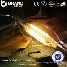 Chine Fabricant Hot Sale Factory Prix E27 Base 4W LED Filament Bulb Light