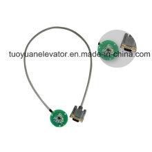 Magnetic Induction Incremental Encoder for Elevator Door Motor