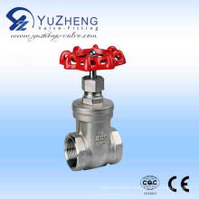 Stainless Steel 200wog BSPT Thread Gate Valve