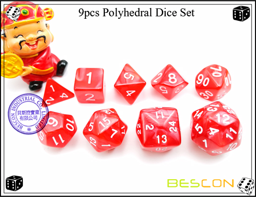 9pcs Polyhedral Dice Set-9