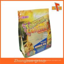 Custom Design flachen Boden laminiert Haustier Lebensmittel Tasche für Haustier Aliment Verpackung mit Druck