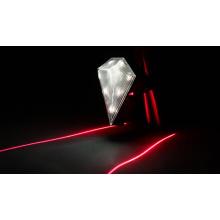 Lámpara recargable de láser trasero blanco