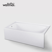 64'' Alcove Bathtub in White Acrylic
