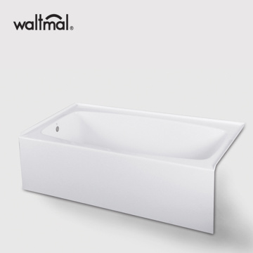 Fiberglas Soaking Oval Alcove Whirlpool Bathtub
