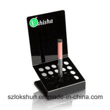 Stands de exibição de cigarro eletrônico de acrílico pop Perspex Counter Top Display Racks