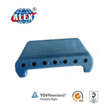 Drilled Rail Insulator with Plastic Material