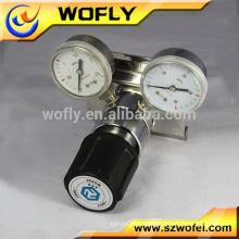 Co2 pressure regulator for beer cylinder