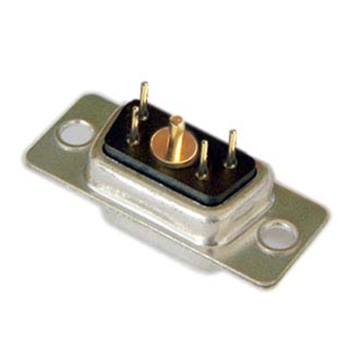 5W1 Female Power D-SUB connector via opening