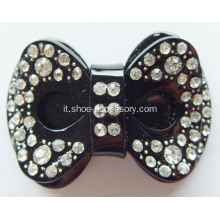 Bowknot acrilico strass Buckle
