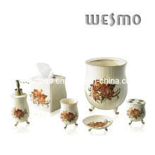 Porcelain Bath Set with Decal (WBC0452A)
