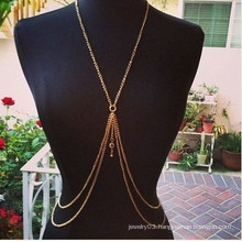 2015 new design body jewelry infinity body chains