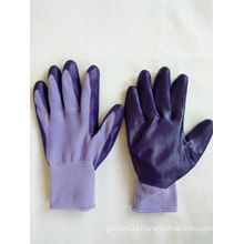 13G Polyester Shell Nitrile Coated Safety Work Gloves (N6018)