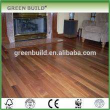 Plancher de bois d'ingénierie en teck naturel avec certification CE