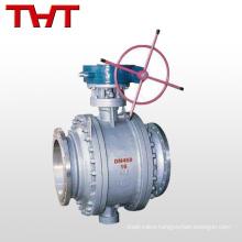 WCB worm gear fixed liquid control big size ball valves