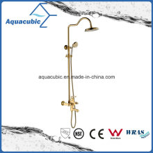 Bathroom New Style Polished Gold Bath Shower Mixer Faucet