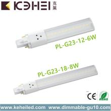 8W Cool White LED Luz PL 160 ° Ângulo do feixe