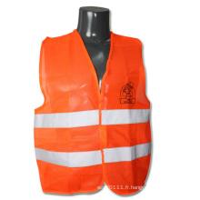 Orange haute visibilité gilet de sécurité à vélo de protection réfléchissant (YKY2824)