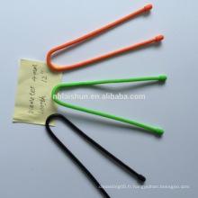 Attaches de câble avec cravate en silicone