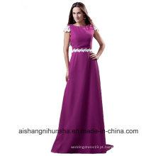 Vestidos de dama de honra com mangas compridas A-Line Chiffon Wedding dama de honra