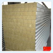 China Panel de sándwich de lana de roca con aislamiento térmico para la pared
