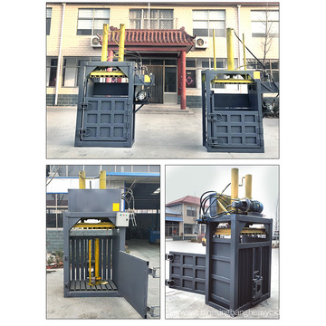Vertical semi-automatic hydraulic baler