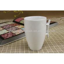 Tasses en céramique en blanc blanc bon marché en vrac
