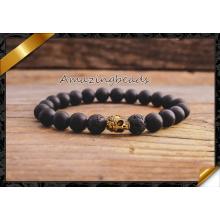 Bracelets de bijoux en agate de perles de lave (CB035)